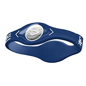 Power Balance MLB Silicone Wristband - Genuine - Los Angeles Dodgers by Power Balance