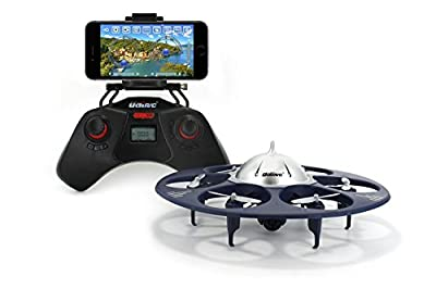 UDI U845 Voyager WiFi FPV UFO HexaCopter RC Drone with Real-time Aerial Photography 720P HD Camera App Controllable by Smart Devices by UDI RC