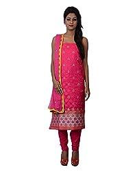 Mumtaz Sons Women's Cotton Unstitched Dress Material (MS111441A,Rani)