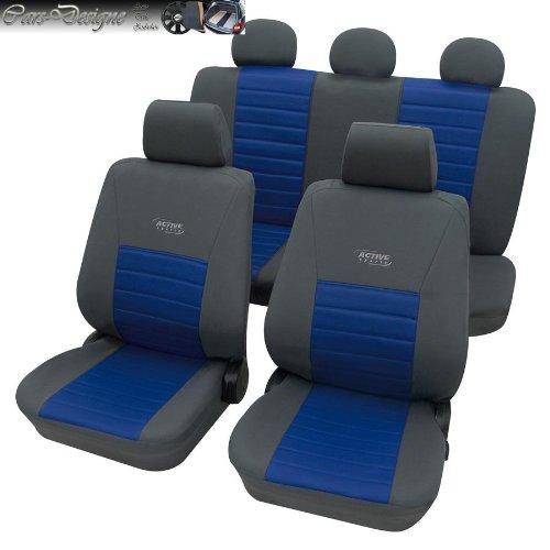 KFZ Auto Sitzbezüge Schonbezüge Sitzbezug grau