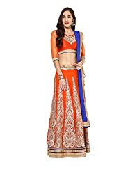 Yepme Women's Orange Blended Lehengas - YPMLEHG0100_Free Size