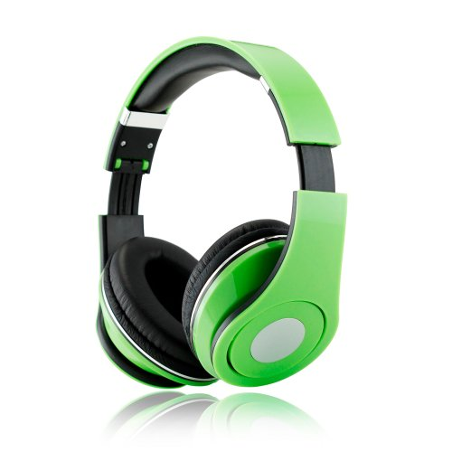 Gearonic Adjustable Circumaural 3.5Mm Over-Ear Stereo Headphone For Ipod, Mp3, Mp4, Pc And Iphone Music - Non-Retail Packaging - Green
