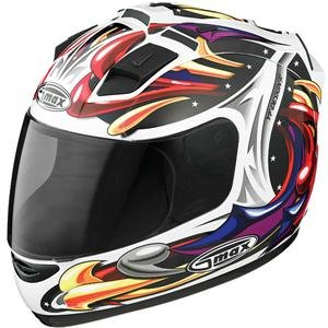 GMax GM68 Wizard Helmet - Large/White Multi