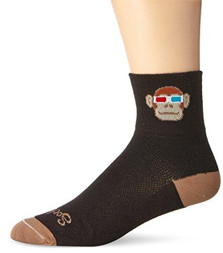 SockGuy Men's Monkey See 3D Socks