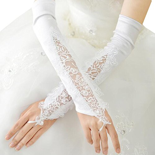 Elegant Wedding Gloves Bride Bridal Party Dress Lace Gloves