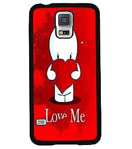 Printvisa 2D Printed Love Designer back case cover for Samsung S5 Mini - D4456