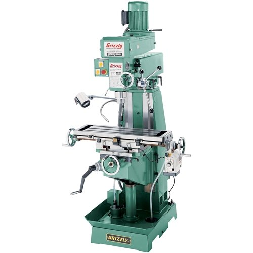grizzly vertical milling machine