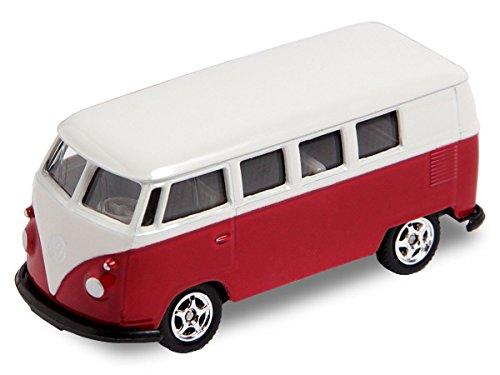Alsino-VW-Bus-Bulli-Modellauto-75-cm-Modell-Volkswagen-160-Bully-Minibus-Oldtimer-Welly-Variante-whlen560076-VW-Bus-T1-mini-rot