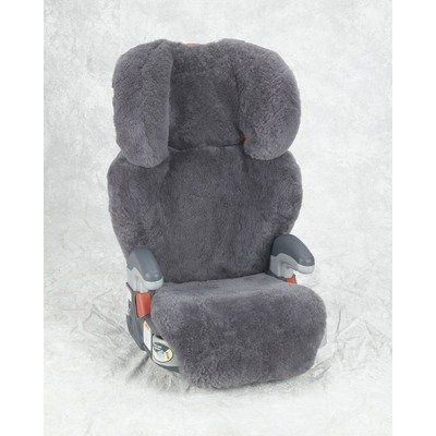 Custom Sheepskin Convertible Car Seat Cover Seat Model: Evenflo Booster, Color: Charcoal
