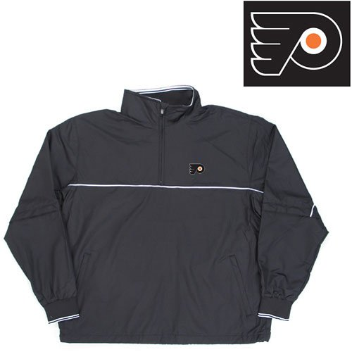 "Buy Philadelphia Flyers NHL ""Omni"" Pullover Windshirt (Black)"