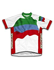 Dagestan Flag Short Sleeve Cycling Jersey for Women