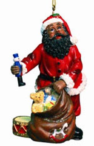 Kurt Adler African American Santa With Toy Bag [D0512B]