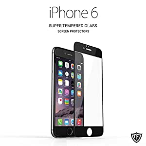 Indestructible iPhone 6 Screen Protector by MoArmouz - Thin & Transparent Apple iPhone Plus Glass Screen Protector - Adequate Protection From Scratches & Drops - Edge to Edge Whole Screen Coverage - Black