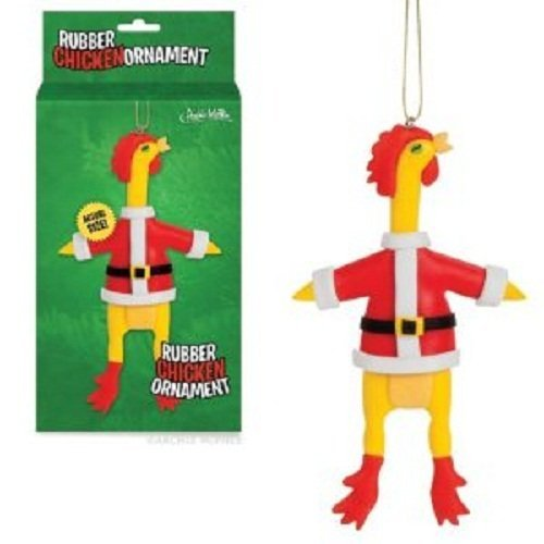 Santa Chicken Ornament