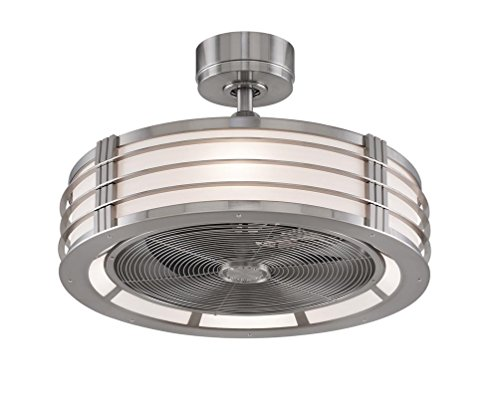 Fanimation FP7964BN Beckwith Fan with Opal Frosted Shade, Brushed Nickel (Retro Fan Nickel compare prices)