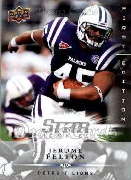 2008 Upper Deck First Edition # 182 Jerome Felton Detroit Lions (Football Card) Dean's Cards 8 - NM/MT