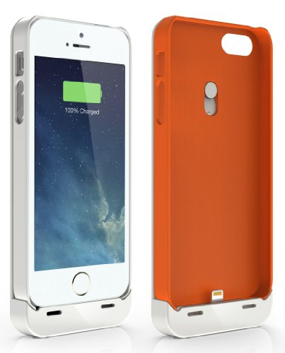 Jackery Leaf Premium Rechargeable Battery Case For Iphone 5S, And Iphone 5; 2 Protection Cases + 1 Snap-On Rechargeable Battery + 1 Audio Extension Cable; Apple Mfi Certified; Iphone 5 Battery Case; Iphone 5S Battery Case; Protective Battery Case Serves A