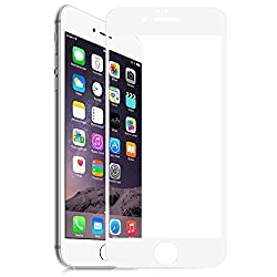 Skoot Full Screen Protector tempered glass for Apple iphone6 - White