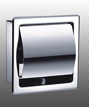 toilettenpapierhalter aus hochwertigem edelstahl matt unterputz zum einbau platzsparend. Black Bedroom Furniture Sets. Home Design Ideas