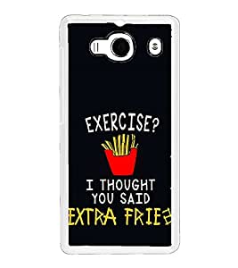 ifasho Quotes on exercise Back Case Cover for Redmi 2S