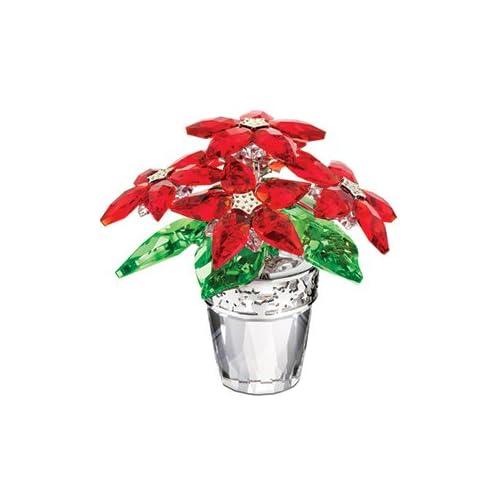 - Swarovski Crystal Poinsettia Flowerpot Lg - Collectible Figurines