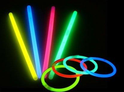 """The Brightest Glow Sticks! 8"""" Multi Colored Fun Glow Stick Bracelets 100 Pack"""