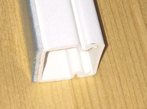 1m Kabelkanal 15 x 15mm mit unterschäumtem Kleber, hält auch auf strukturiertem Untergrund bombenfest (KK-15x15WS-1)