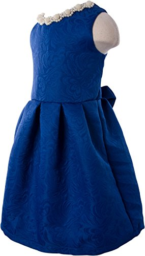 Ipuang Little Girls' Lovely Pattern Dresses for Special Occasions 6 Blue