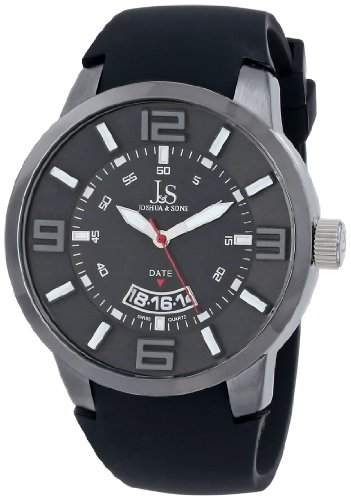 Joshua & Sons JS64BK - Reloj para hombres