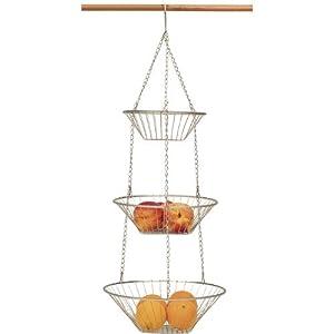 Amazon.com - 3 Tier Satin Nickel Hanging Vegetable Basket -
