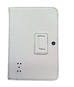 Eforcase Slim Fit Folio Stand PU Leather Case Cover for 7 Inch Android Tablet(Q88) - More Color Options (White) by Eforcase