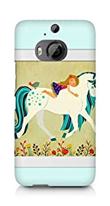 AMEZ Horse with girl Back Cover For HTC One M9+