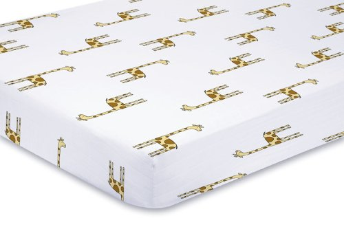 Aden + Anais Classic Muslin Crib Sheet, Jungle Jam - Giraffe