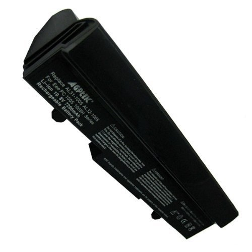 AGPtek 7200mAh Laptop Battery For ASUS Eee-PC 1001 1101HA 1101HGO 1005 1005H 1005HA 1005HAB Series Laptops P/N: Al32 AL31-1005