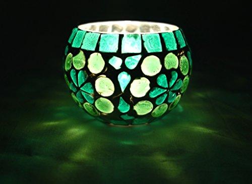 Etnico in vetro, dipinta a mano, porta candele per Tea light