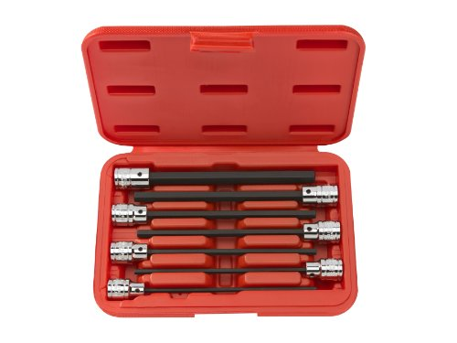 TEKTON 1363 3/8-Inch Drive Extra Long Hex Bit Socket Set, Metric, 3 mm - 10 mm, 7-Sockets