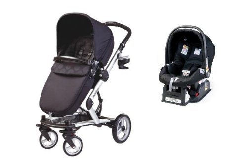 Peg Perego 2013 Skate Stroller With Primo Viaggio Car Seat in Pois Black