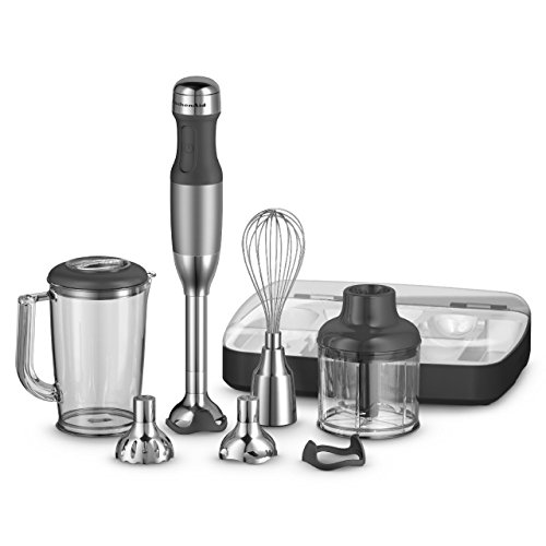 KitchenAid KHB2561CU 5-Speed Hand Blender, Contour Silver