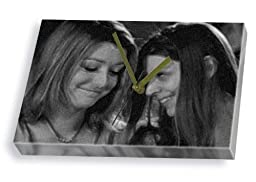ALYSON HANNIGAN & AMBER BENSON - Canvas Clock (LARGE A3 - Signed by the Artist) #js003