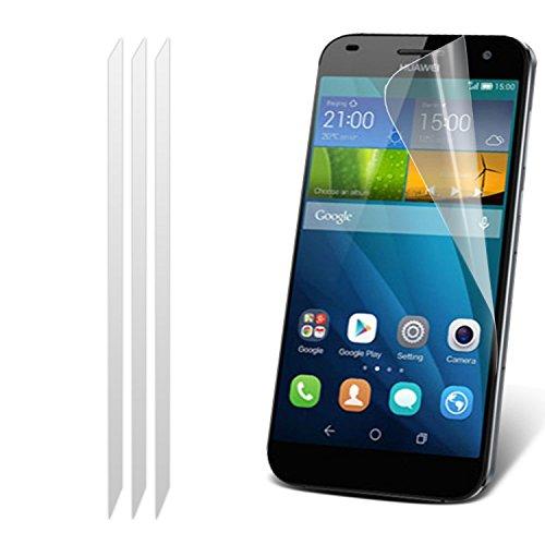 Huawei Ascend G7-Satz mit 3 Displayschutz Mit Poliertuch Mit i-Tronixs