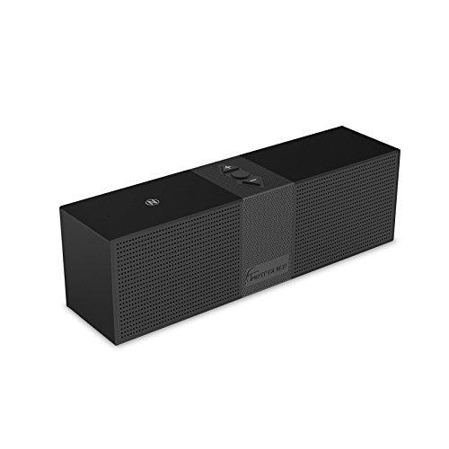 Altoparlante Bluetooth Stereo Portatile TaoTronics Speaker Bluetooth Wireless per iPhone e smartphone Android e Tablet PC, ecc (A2DP, NFC, 2x3W Driver, 10 Ore di Riproduzione, Audio in alta definizione)-Nero