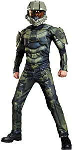 Disguise Master Chief Classic Muscle Costume, Large (10-12)