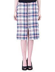 Oxolloxo Women check jacquard skirt