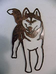 Siberian Husky Dog Metal Wall Art Home Decor