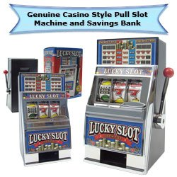 Trademark Poker Play The Game Lucky Slot Machine Bank