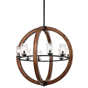 Kichler Lighting 43190AUB Grand Bank 8-Light Pendent Type Chandelier Auburn Stained by Kichler Lighting