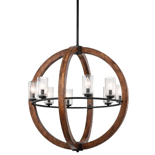 Buy Kichler Lighting 43190AUB Grand Bank 8-Light Pendent Type Chandelier Auburn Stained