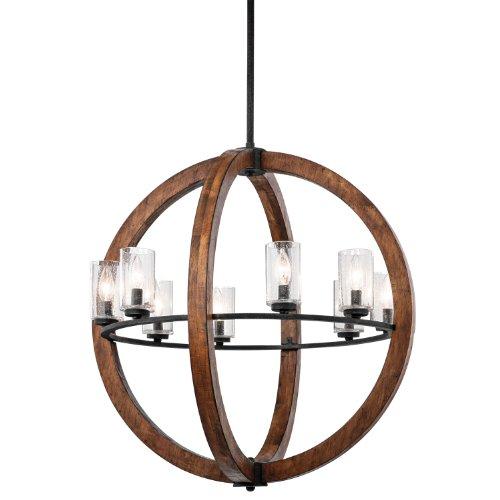 Buy Kichler Lighting 43190AUB Grand Bank 8-Light Pendent Type Chandelier Auburn Stained