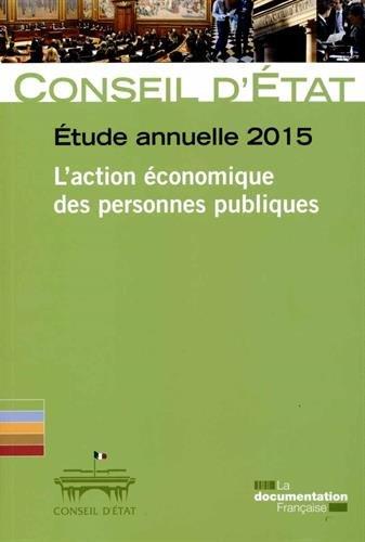 L'action économique des personnes publiques - Etude annuelle 2015