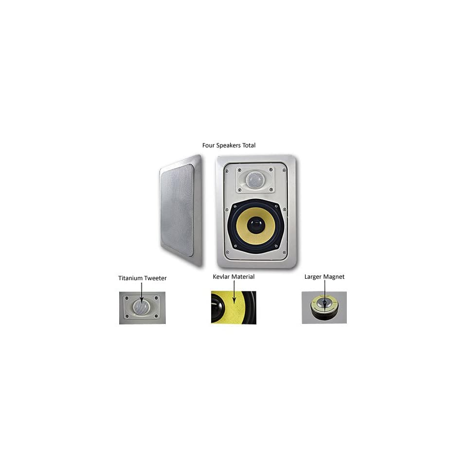 Four Acoustic Audio HD 525 4PKG 250 Watt In Wall/Ceiling Home Speakers